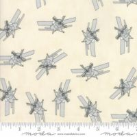 Moda - Mighty Machines - Plane Grey - No. 49023 21 (Cream and Grey)
