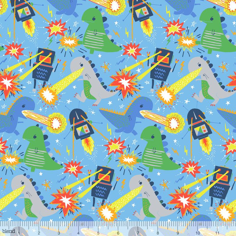 Blend Fabrics - Stacy Peterson - Meltdown - 125.103.01.1 (Light Blue)