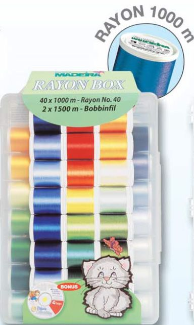Madeira Rayon No.40 Embroidery Box