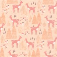 Brushed Cotton Flannel - Field Day - No. 1027-01 Roam Free (Pink) - Cloud 9