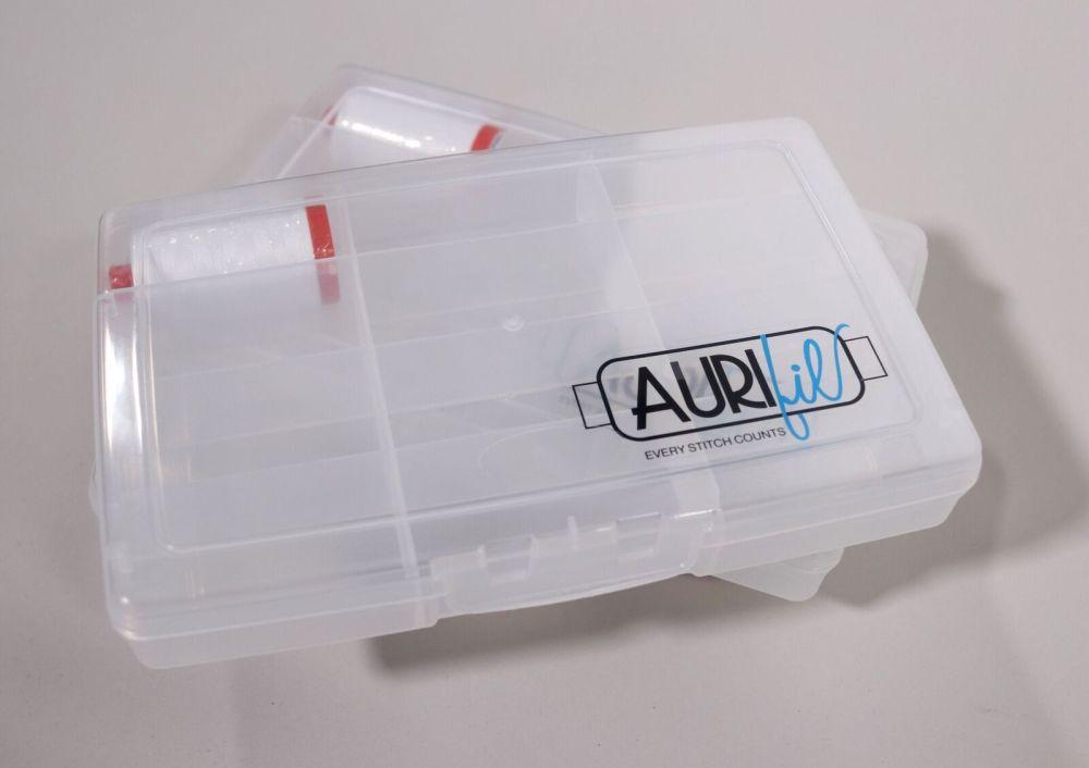 Aurifil Thread Storage Box + 50 weight spool of white thread