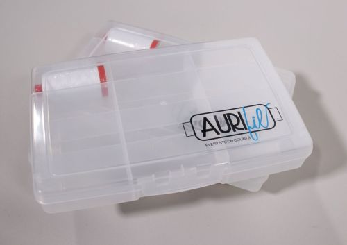 Aurifil Thread Storage Box + 50 weight spool of white thread