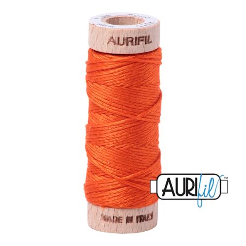 Aurifil Cotton Embroidery Floss, 1104 Neon Orange