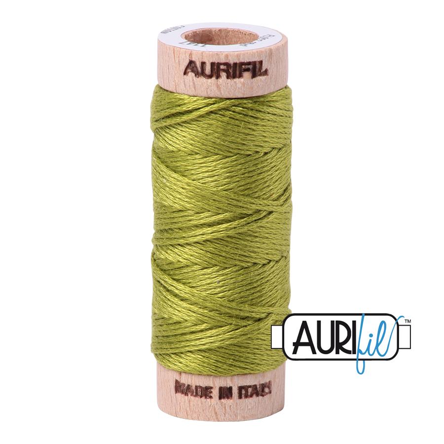 Aurifil Cotton Embroidery Floss, 1147 Light Leaf Green