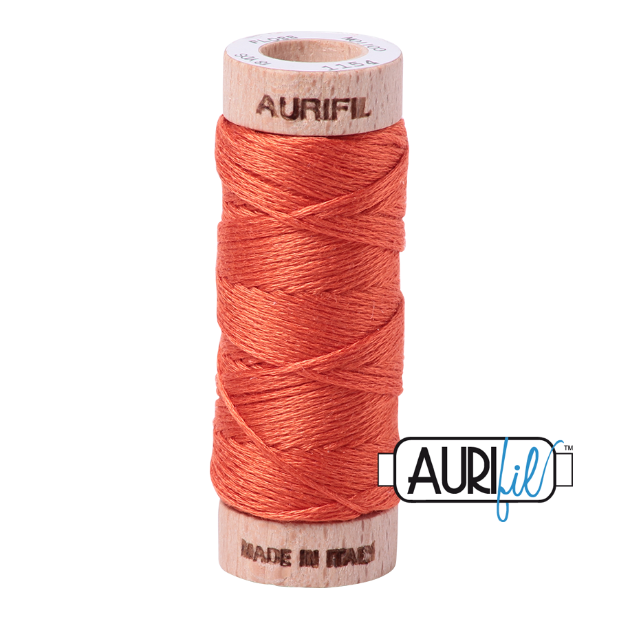 Aurifil Cotton Embroidery Floss, 1154 Dusty Orange