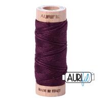 Aurifil Cotton Embroidery Floss, 1240 Very Dark Eggplant