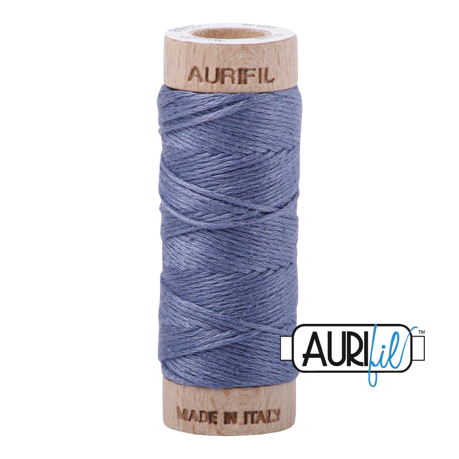 Aurifil Cotton Embroidery Floss, 1248 Dark Grey Blue