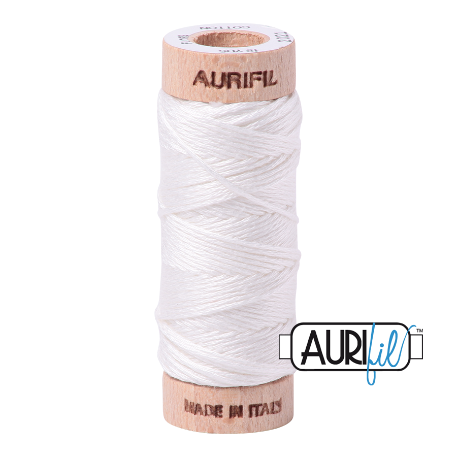 Aurifil Cotton Embroidery Floss, 2021 Natural White