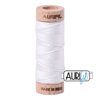 Aurifil Cotton Embroidery Floss, 2024 White