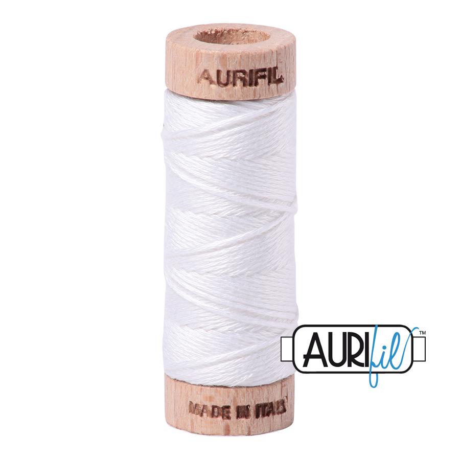 Aurifil Cotton Embroidery Floss, 2024 White