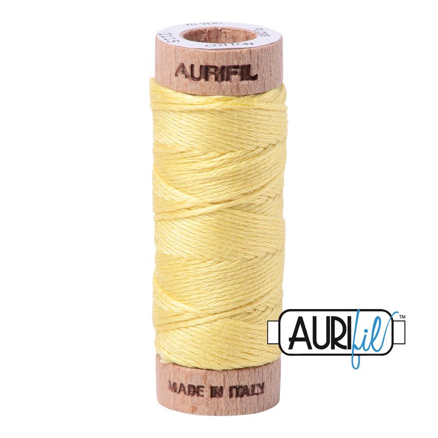 Aurifil Cotton Embroidery Floss, 2115 Lemon