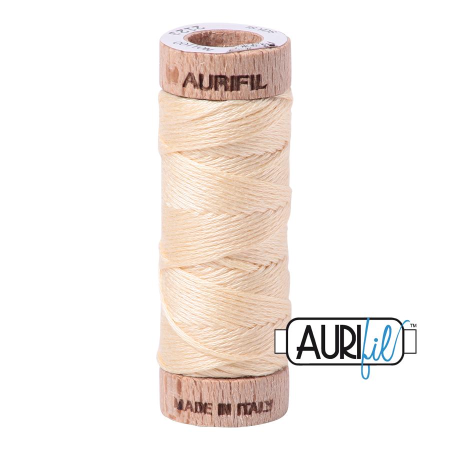 Aurifil Cotton Embroidery Floss, 2123 Butter