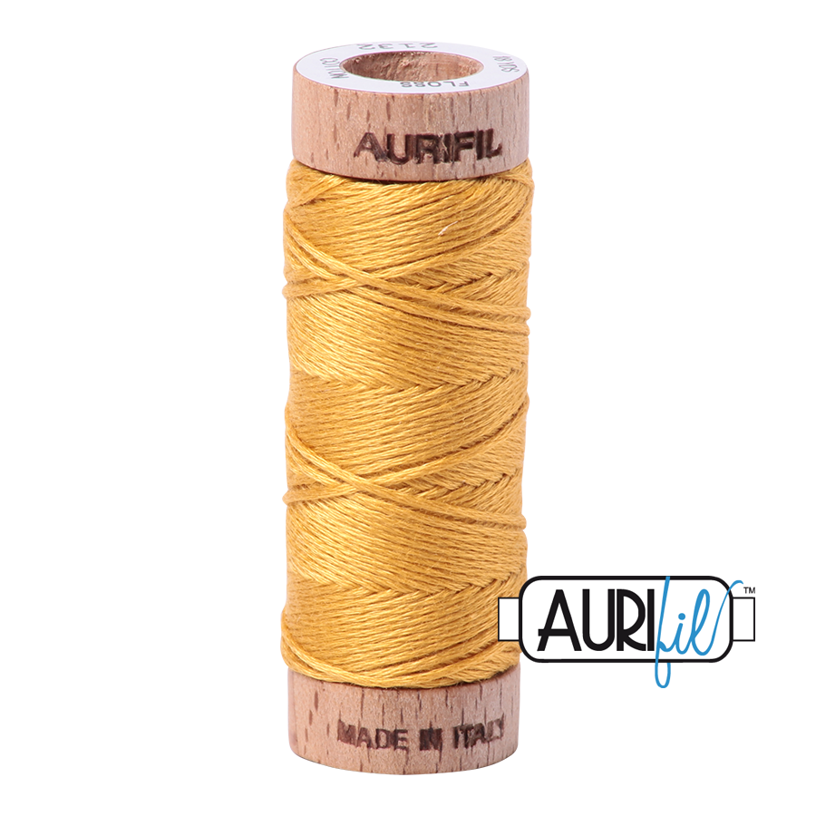Aurifil Cotton Embroidery Floss, 2132 Tarnished Gold