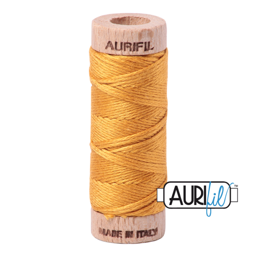 Aurifil Cotton Embroidery Floss, 2140 Orange Mustard