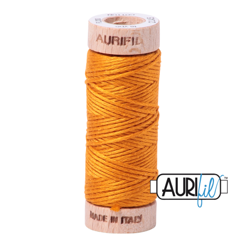 Aurifil Cotton Embroidery Floss, 2145 Yellow Orange