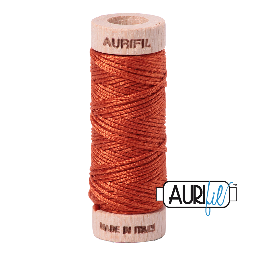 Aurifil Cotton Embroidery Floss, 2240 Rusty Orange