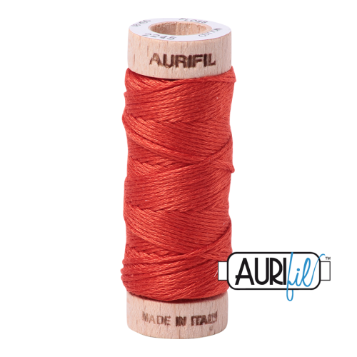 Aurifil Cotton Embroidery Floss, 2245 Red Orange