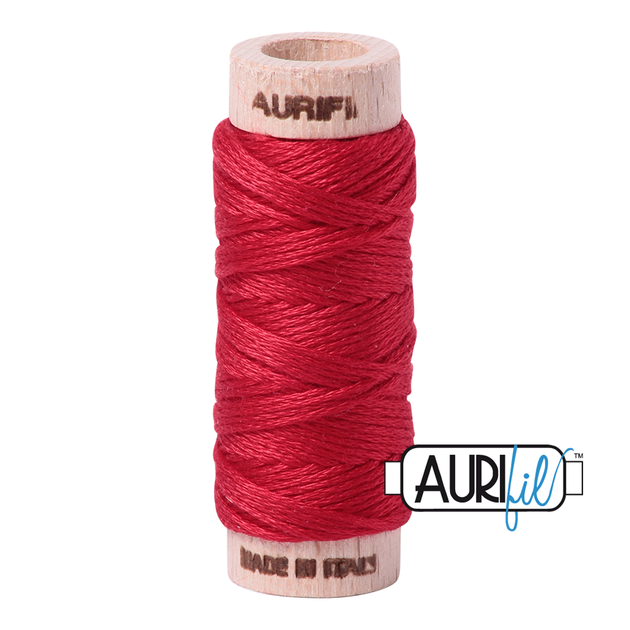 Aurifil Cotton Embroidery Floss, 2250 Red