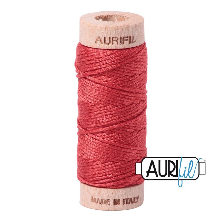 Aurifil Cotton Embroidery Floss, 2255 Dark Red Orange