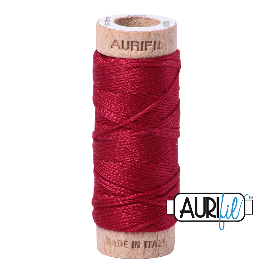 Aurifil Cotton Embroidery Floss, 2260 Red Wine