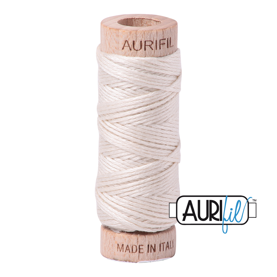Aurifil Cotton Embroidery Floss, 2309 Silver White