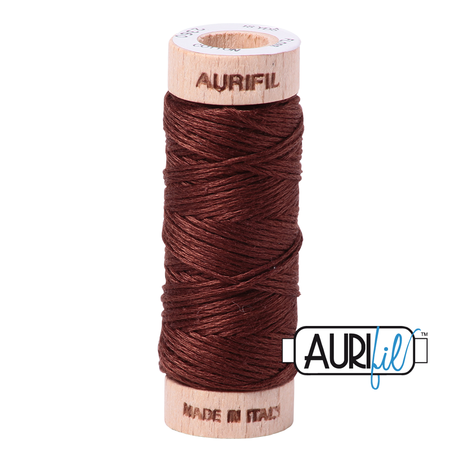Aurifil Cotton Embroidery Floss, 2360 Chocolate