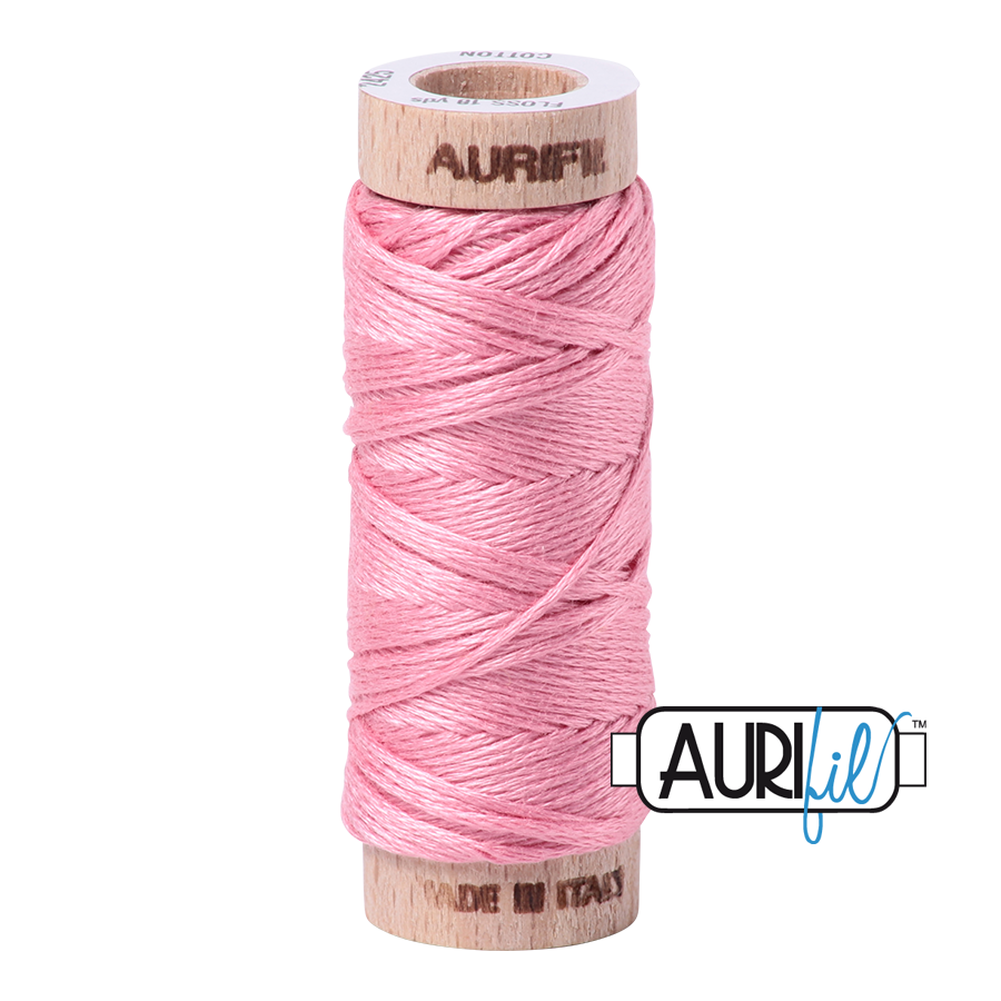 Aurifil Cotton Embroidery Floss, 2425 Bright Pink