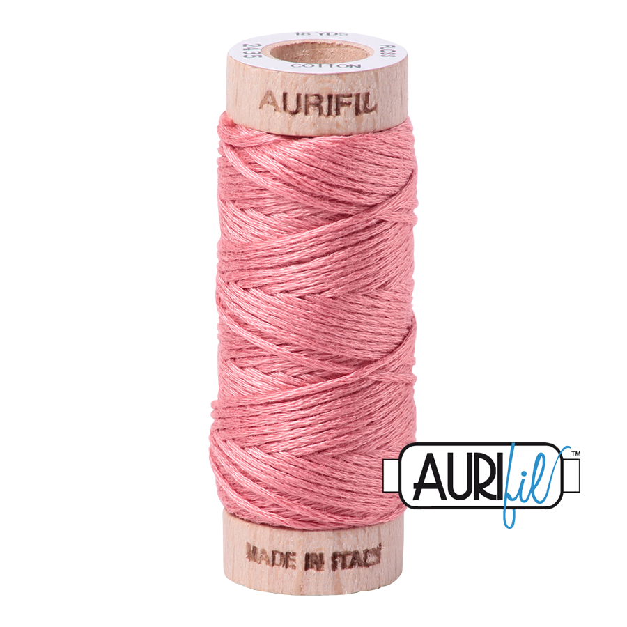 Aurifil Cotton Embroidery Floss, 2435 Peachy Pink