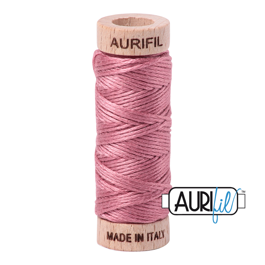 Aurifil Cotton Embroidery Floss, 2445 Victorian Rose