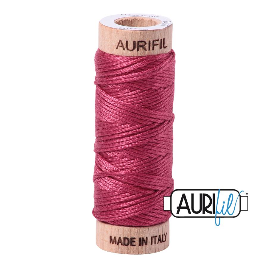 Aurifil Cotton Embroidery Floss, 2455 Medium Carmine Red