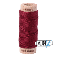 Aurifil Cotton Embroidery Floss, 2460 Dark Carmine Red
