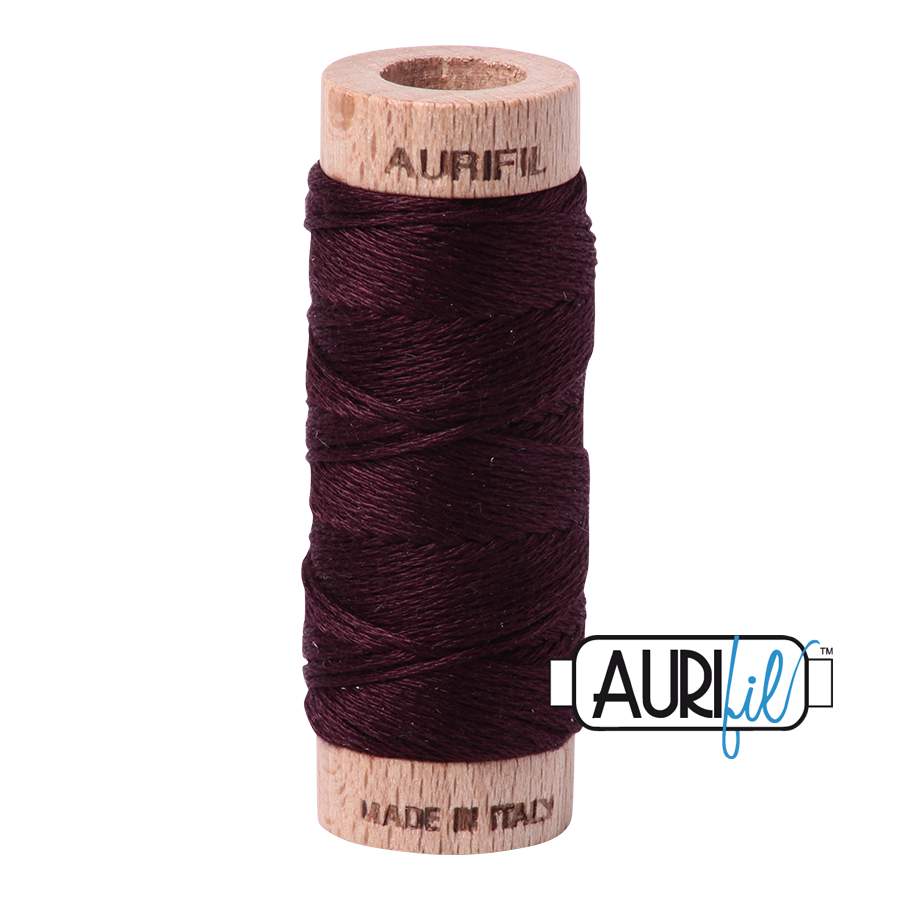 Aurifil Cotton Embroidery Floss, 2465 Very Dark Brown