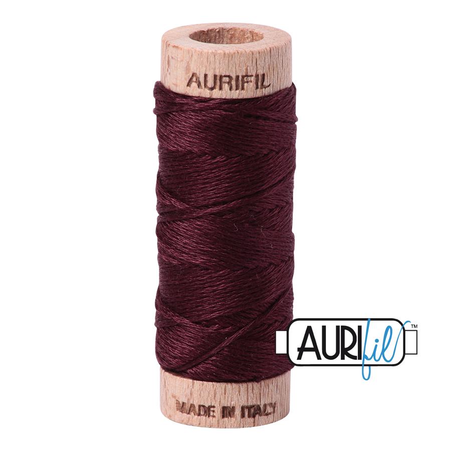 Aurifil Cotton Embroidery Floss, 2468 Dark Wine