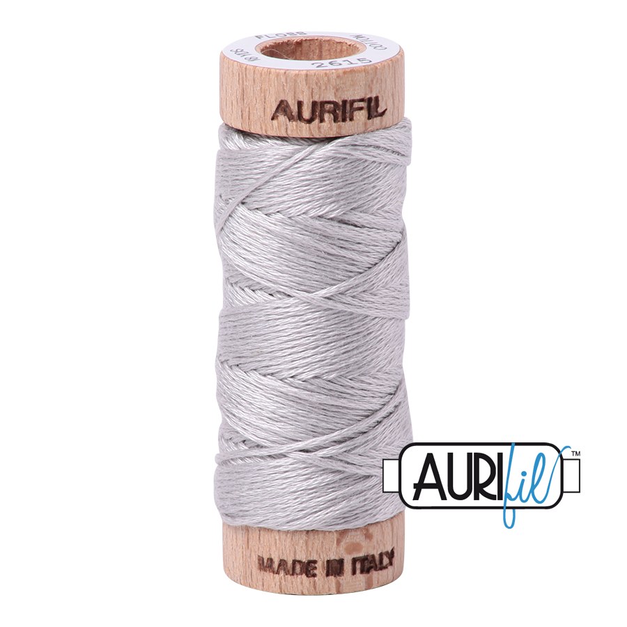 Aurifil Cotton Embroidery Floss, 2615 Aluminium