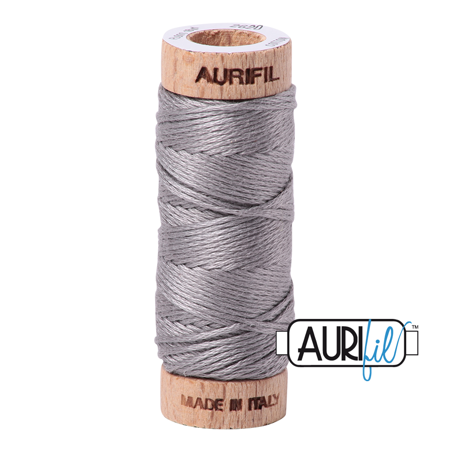 Aurifil Cotton Embroidery Floss, 2620 Stainless Steel