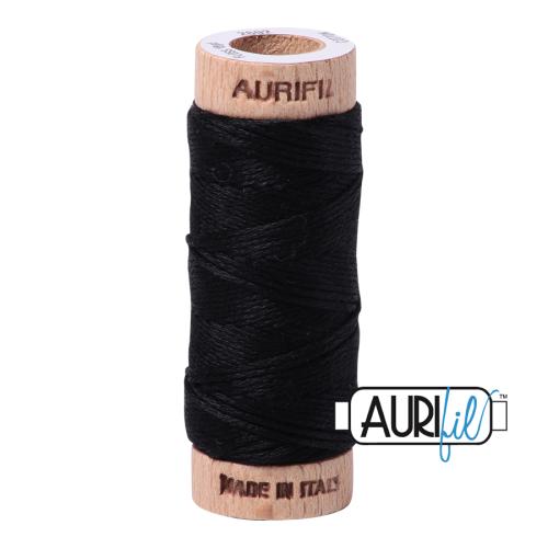 Aurifil Cotton Embroidery Floss, 2692 Black