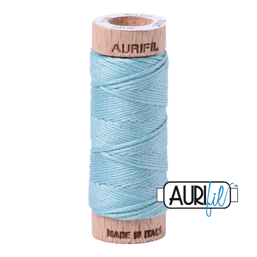 Aurifil Cotton Embroidery Floss, 2805 Light Grey Turquoise