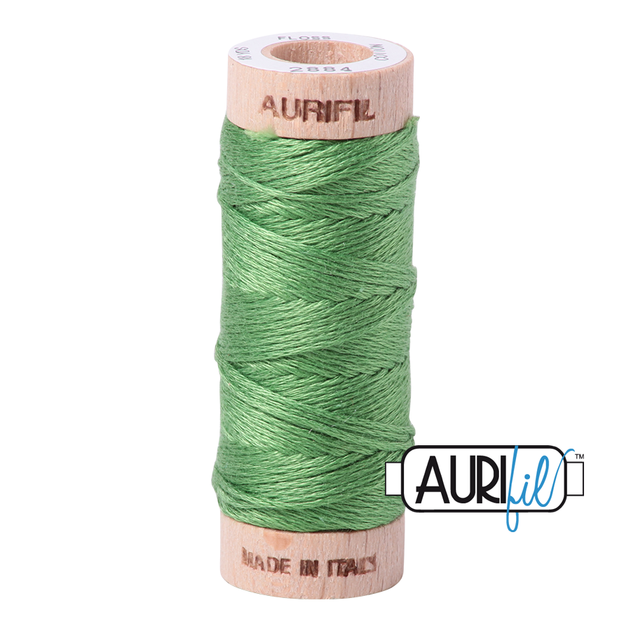 Aurifil Cotton Embroidery Floss, 2884 Green Yellow