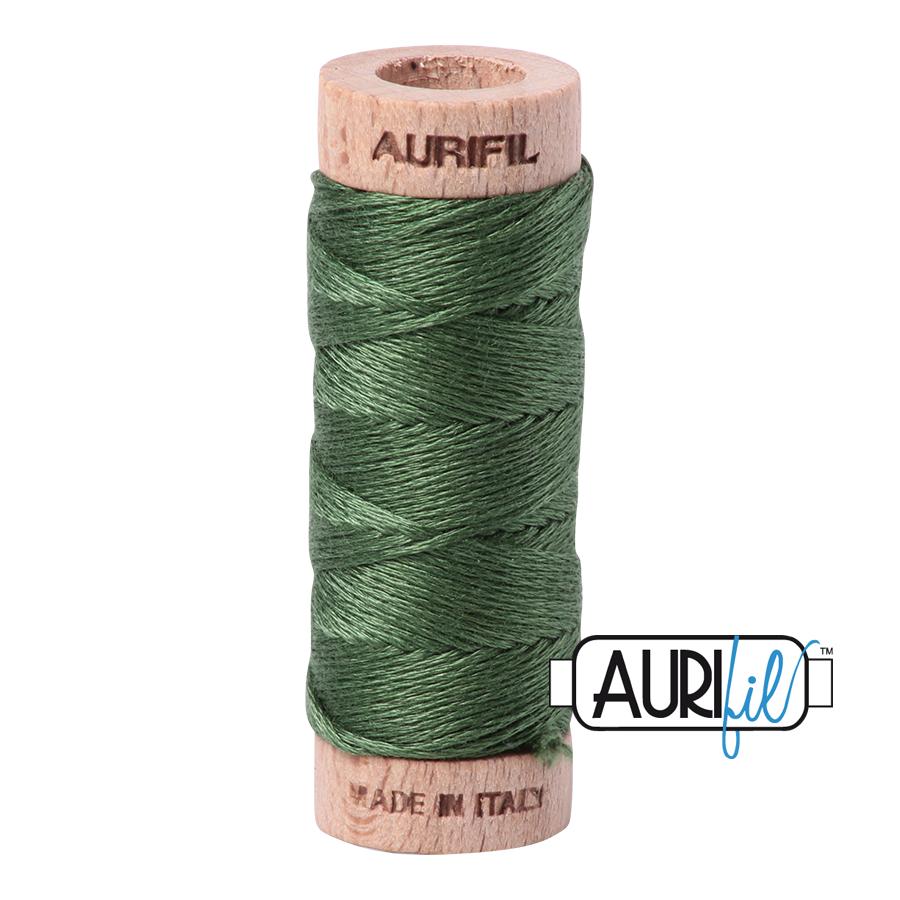 Aurifil Cotton Embroidery Floss, 2890 Very Dark Grass Green