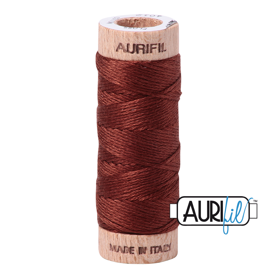 Aurifil Cotton Embroidery Floss, 4012 Copper Brown