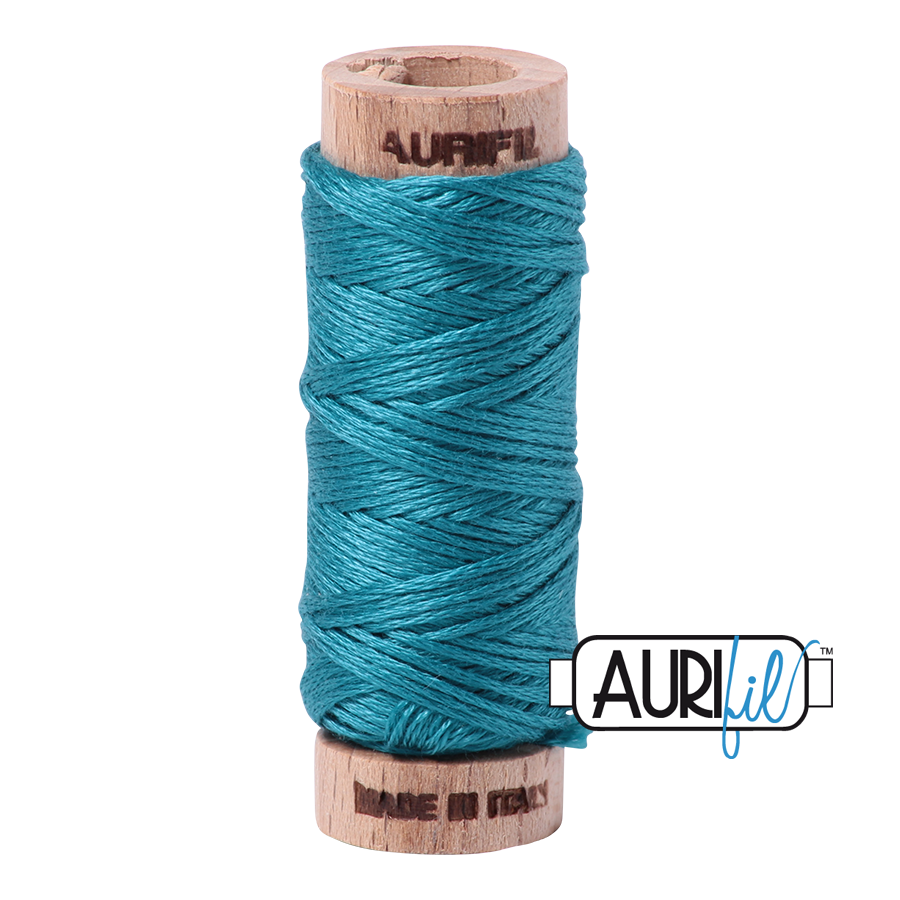Aurifil Cotton Embroidery Floss, 4182 Dark Turquoise