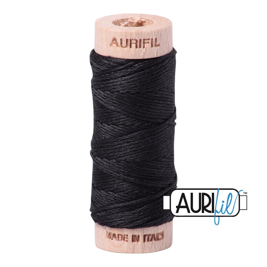 Aurifil Cotton Embroidery Floss, 4241 Very Dark Grey