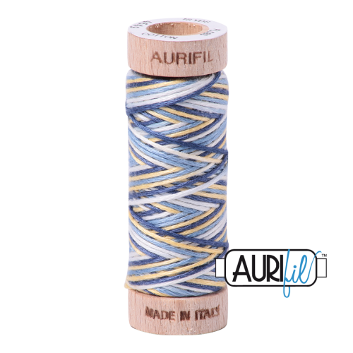 Aurifil Cotton Embroidery Floss, 4649 Lemon Blueberry