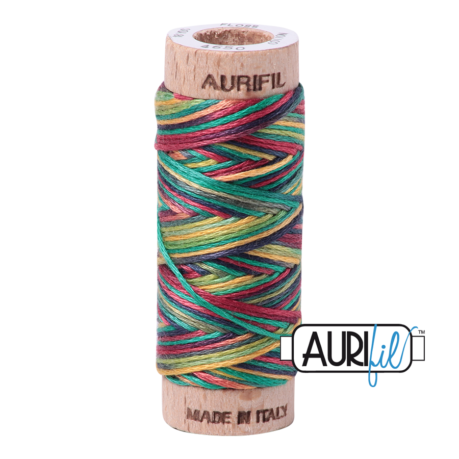 Aurifil Cotton Embroidery Floss, 4650 Leaves