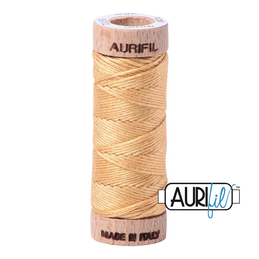 Aurifil Cotton Embroidery Floss, 5001 Ocher Yellow