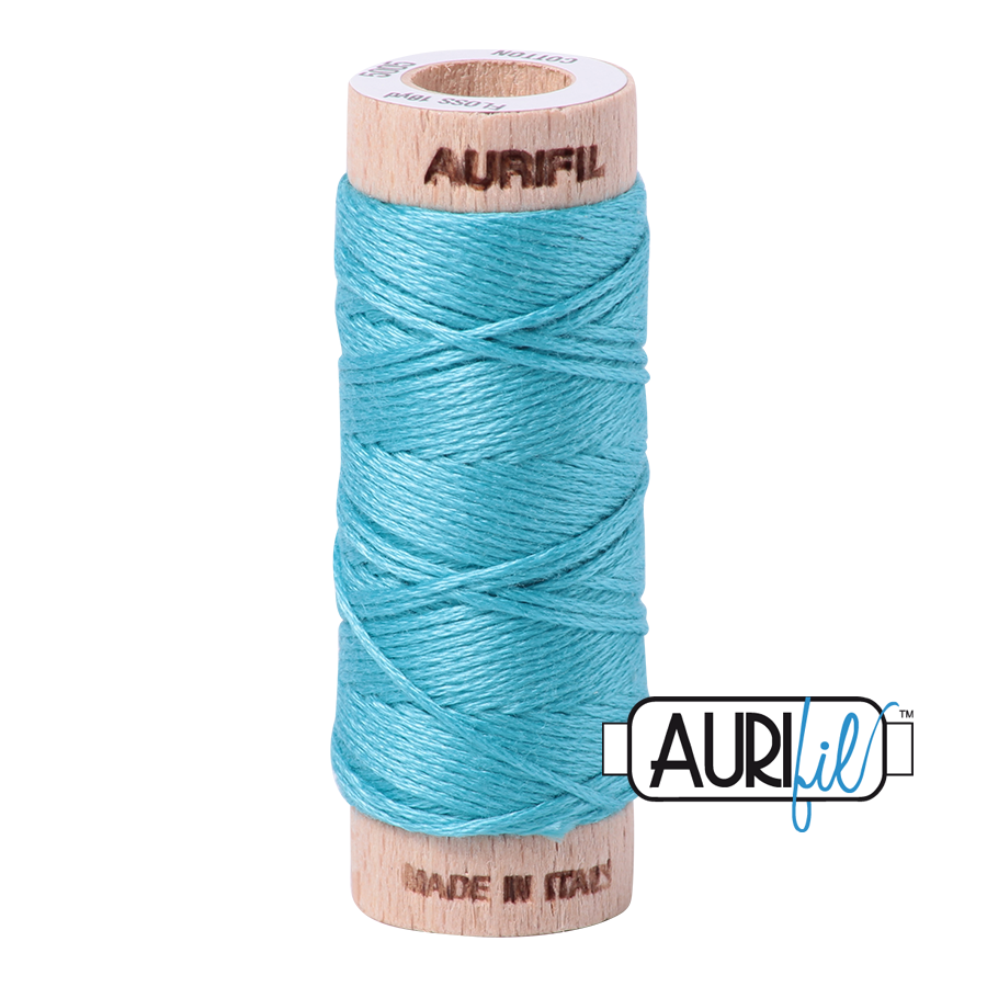 Aurifil Cotton Embroidery Floss, 5004 Bright Turquoise
