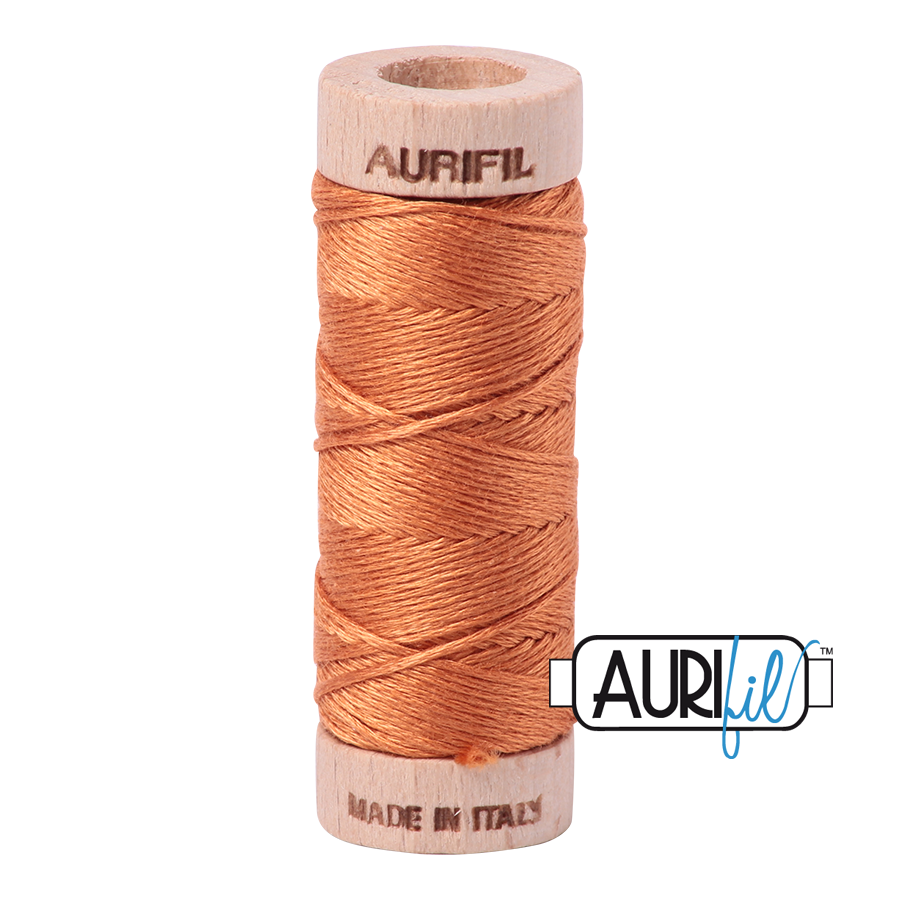 Aurifil Cotton Embroidery Floss, 5009 Medium Orange