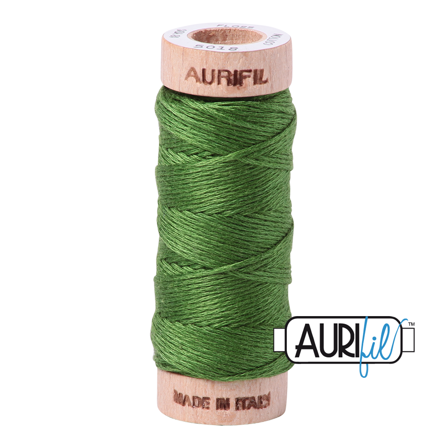 Aurifil Cotton Embroidery Floss, 5018 Dark Grass Green