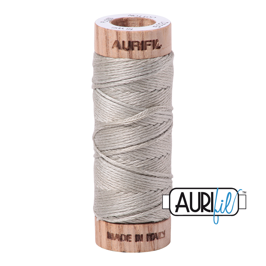 Aurifil Cotton Embroidery Floss, 5021 Light Grey