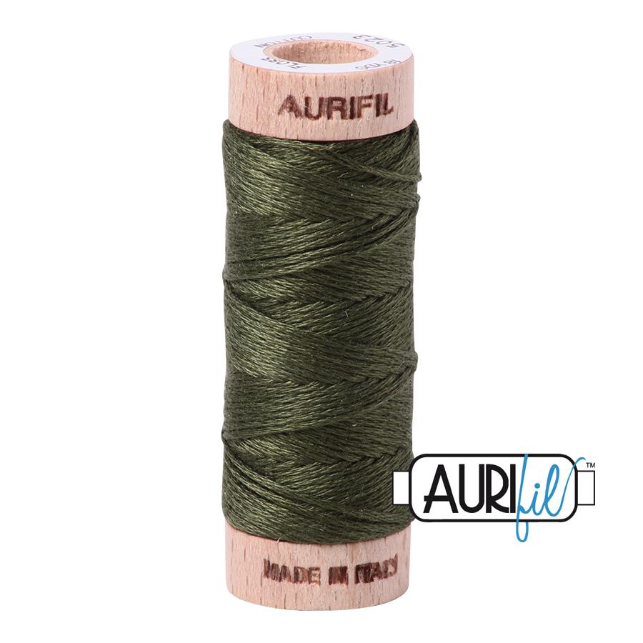 Aurifil Cotton Embroidery Floss, 5023 Medium Green